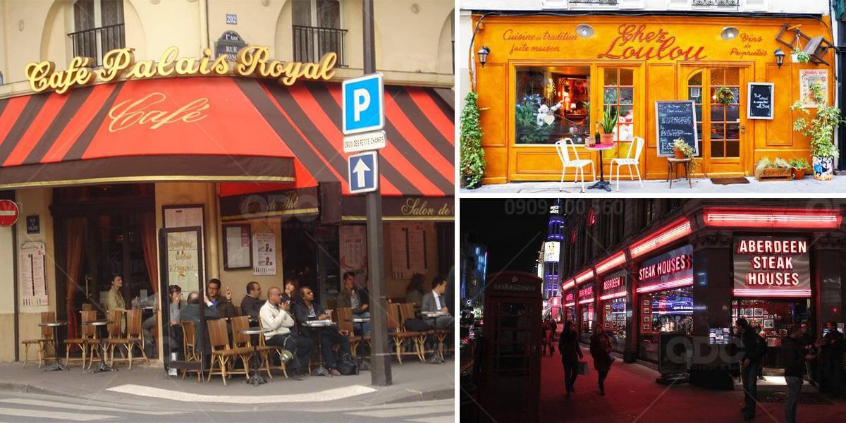Thiết kế quán cafe pari