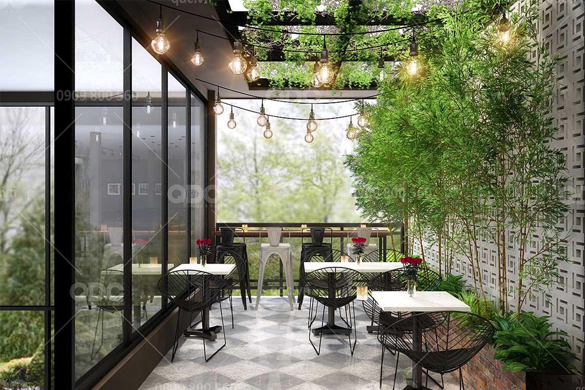 Thiết kế nhà hàng Hàn Quốc không gian ngoài trời vừa thoáng mát vừa tiết kiệm chi phí