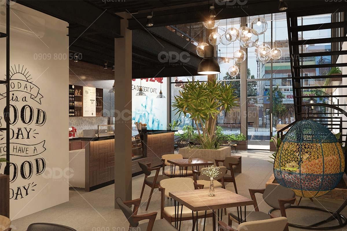 Cây cối góp phần làm không gian nhà hàng trở nên sinh động hơn