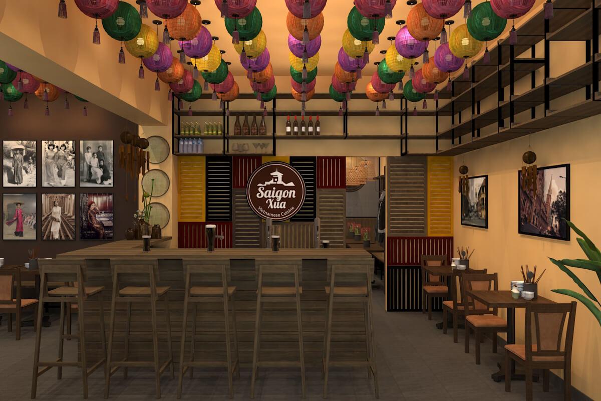 Thiết kế nhà hàng Việt Saigon Xưa (Đức)