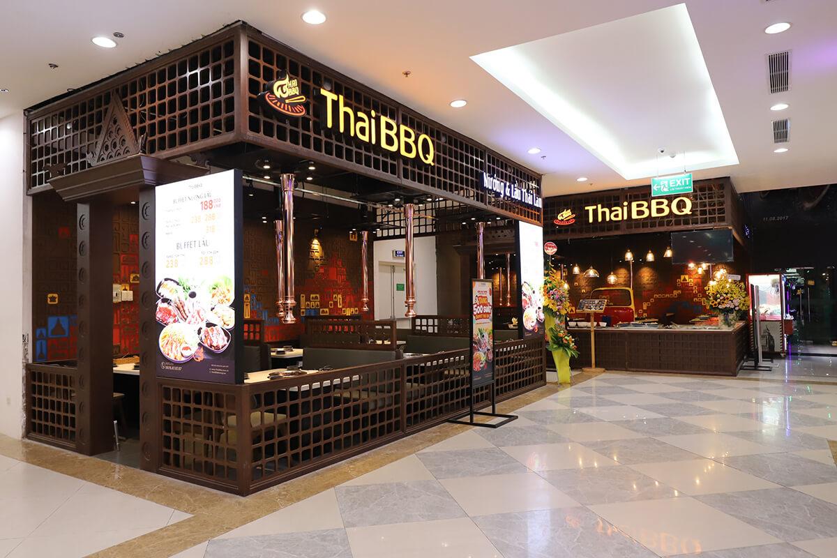 Thiết Kế thi công Nhà Hàng Thái BBQ