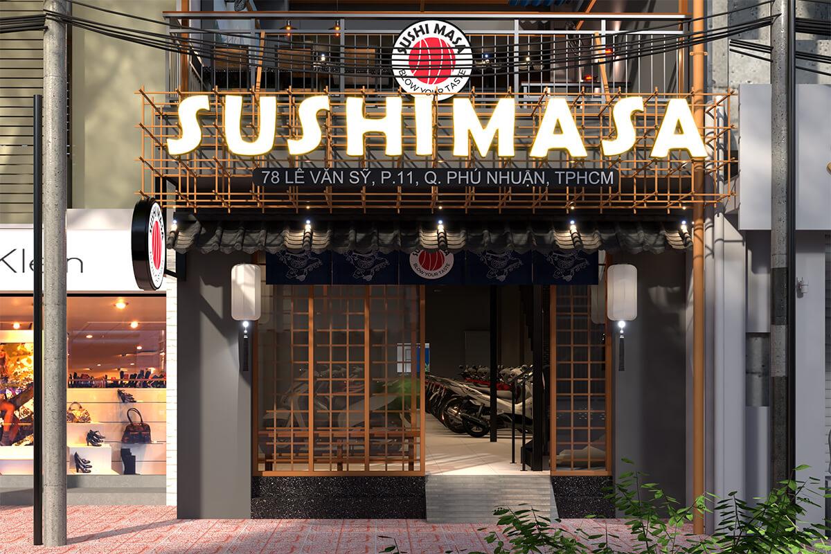 Thiết kế thi công nhà hàng Nhật Sushi Masa
