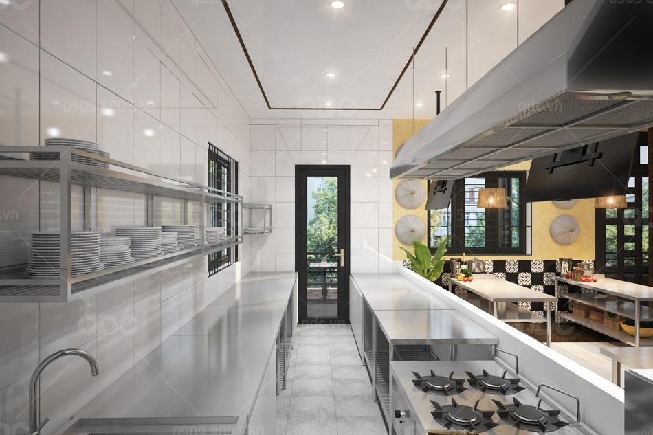 Những nguyên tắc thiết kế bếp nhà hàng chuyên nghiệp