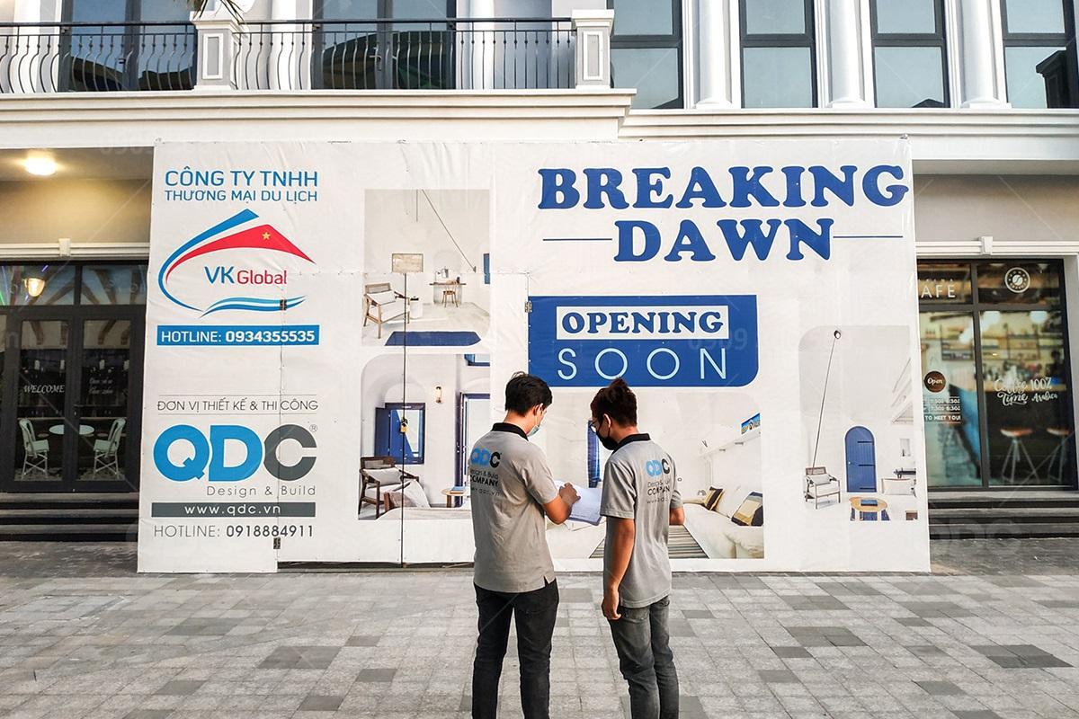 Thiết kế thi công nhà hàng Hàn Breaking Dawn