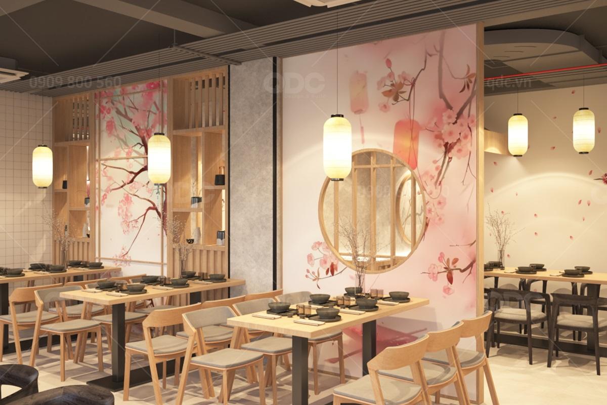 Màu sắc trong nhà hàng Nhật cần hài hoà, trang nhã