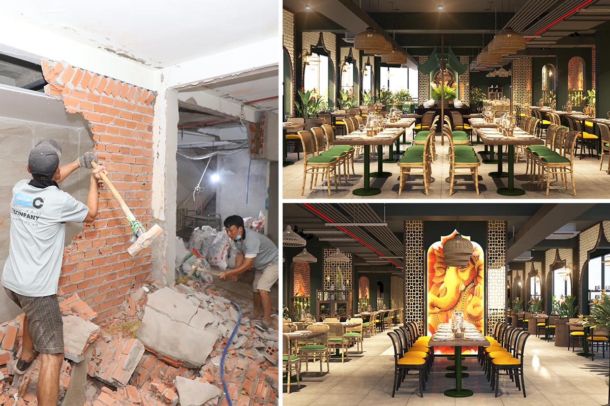 Khởi công dự án thiết kế thi công nhà hàng Buffet Thái ngày 02/01