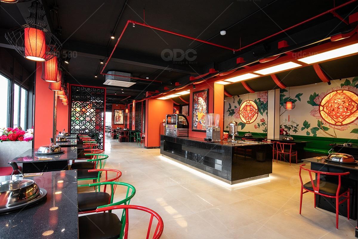 Thiết kế thi công nhà hàng Hoa Lẩu Xông Hơi