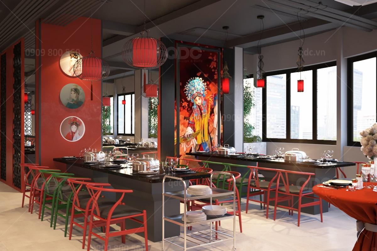 Thiết kế nhà hàng BBQ cao cấp phong cách Trung Hoa