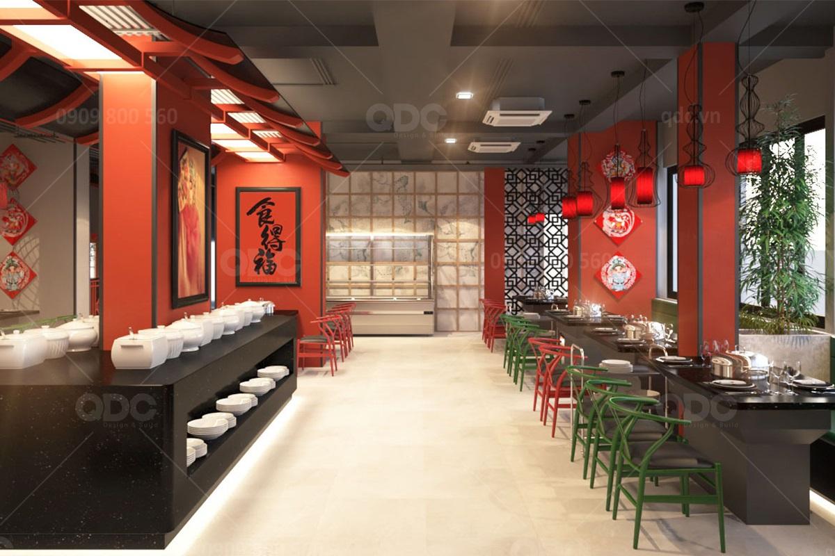 Phong cách thiết kế nhà hàng BBQ kiểu Trung đang là xu thế hiện nay