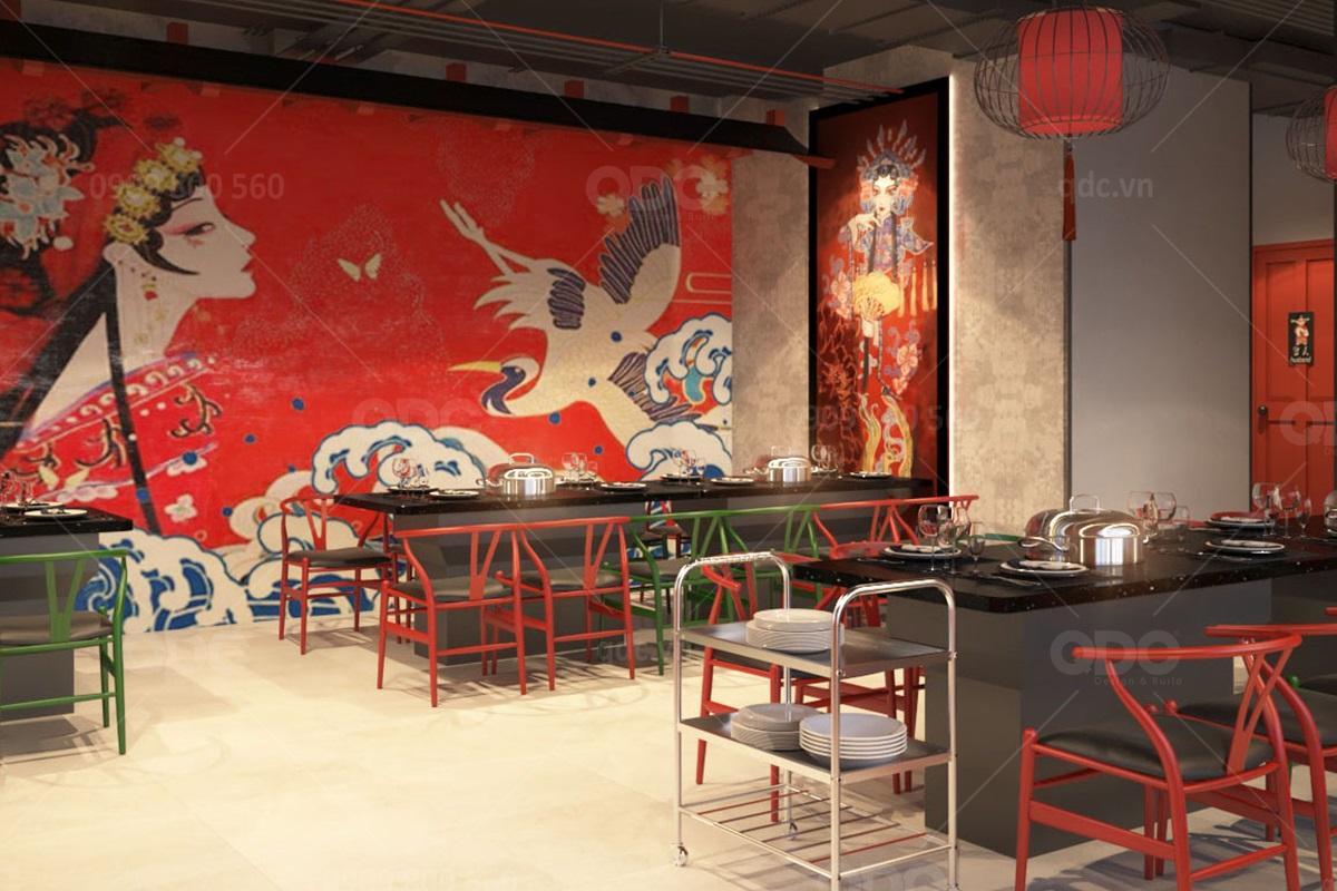 Thiết kế nhà hàng BBQ kiểu Trung Hoa là một ý tưởng mới