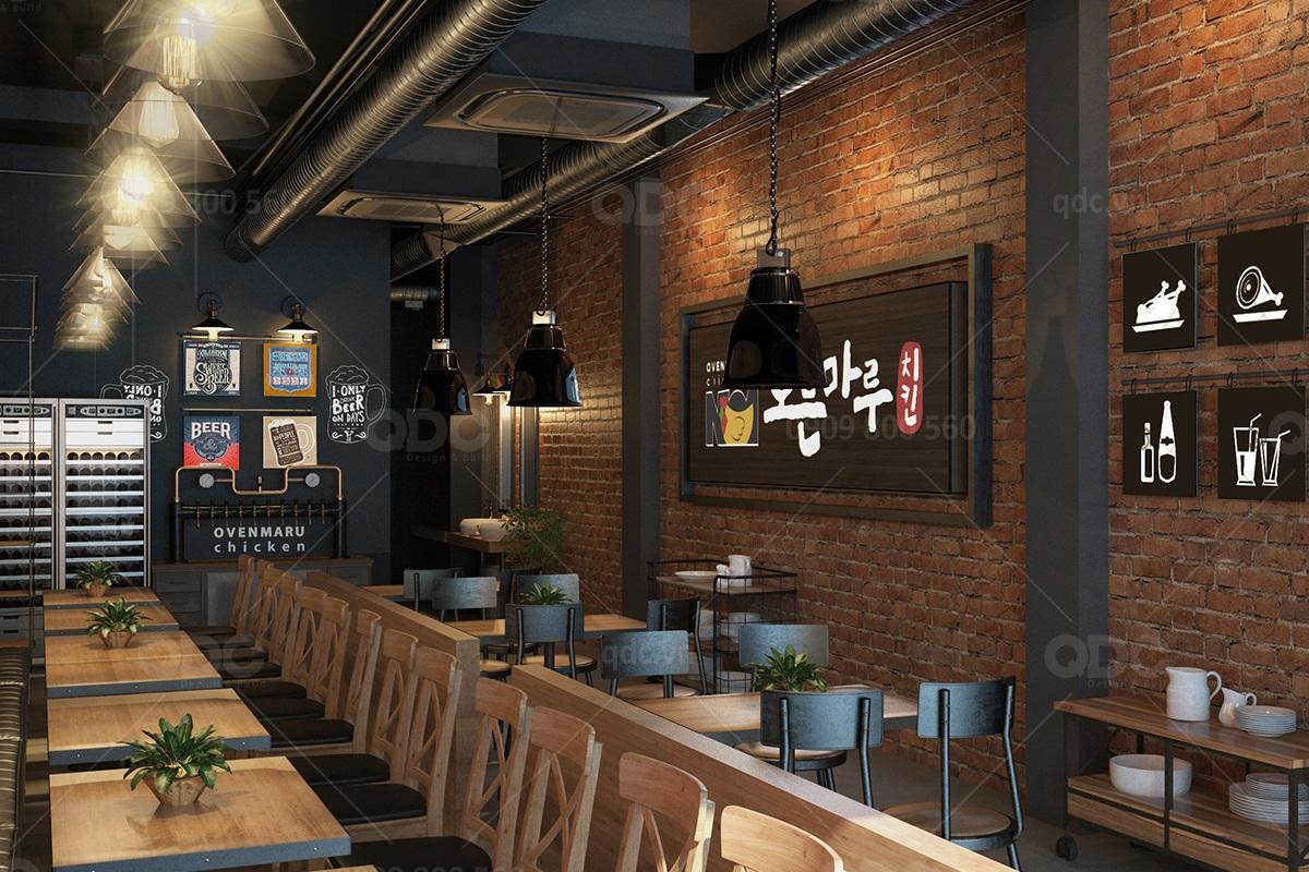 Thiết kế và thi công nhà hàng phong cách Hàn Ovenmaru