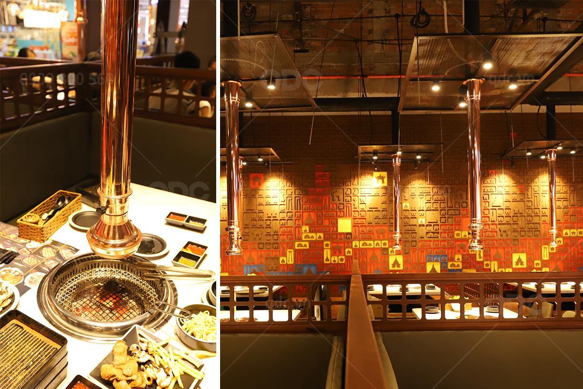 Hệ thống hút mùi là một vật dụng rất quan trọng khi thiết kế nhà hàng BBQ