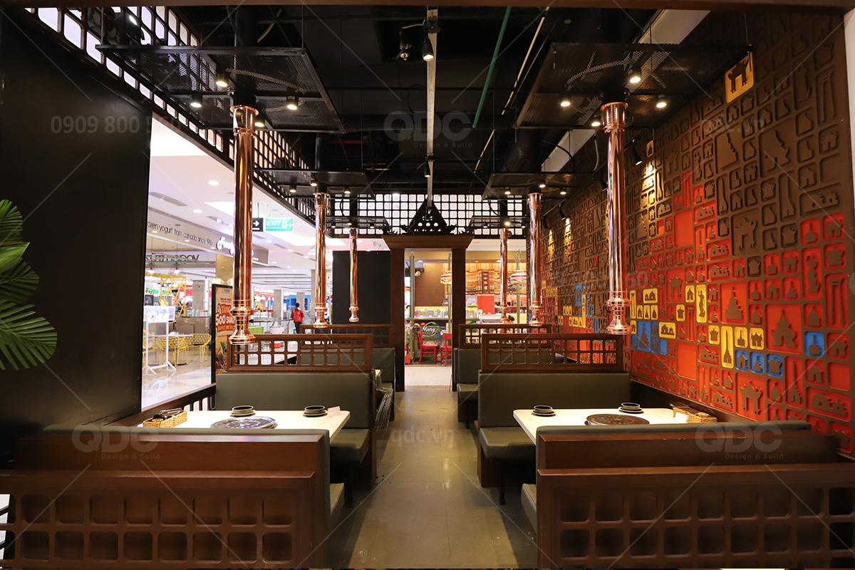Phong cách Thái rất phù hợp với những nhà hàng lẩu nướng