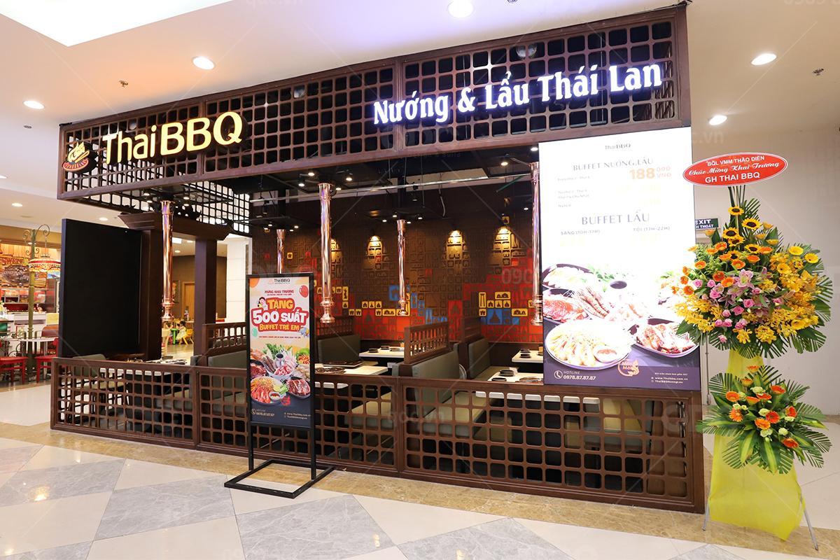 Thiết kế nhà hàng BBQ theo phong cách Thái