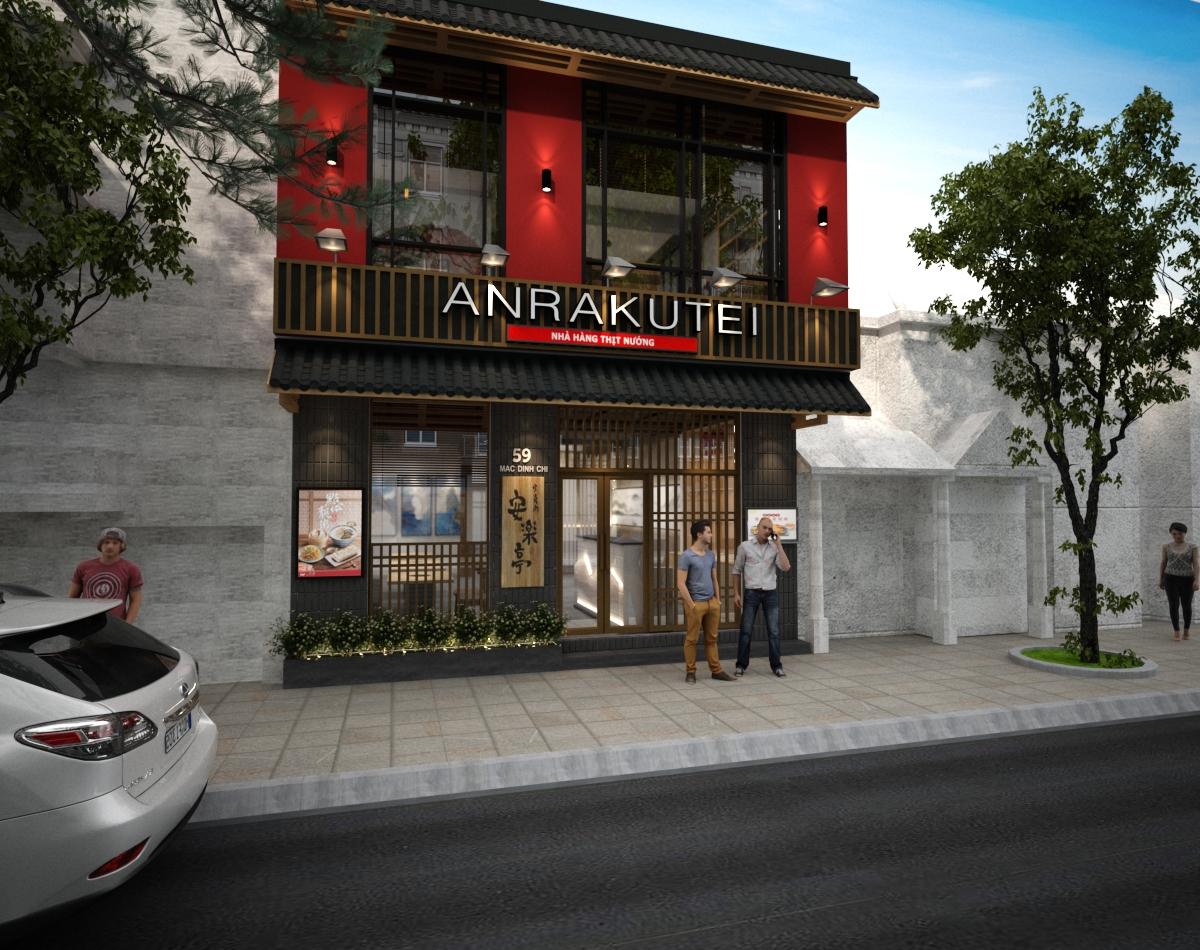 Thiết kế thi công nhà hàng Nhật Anrakutei