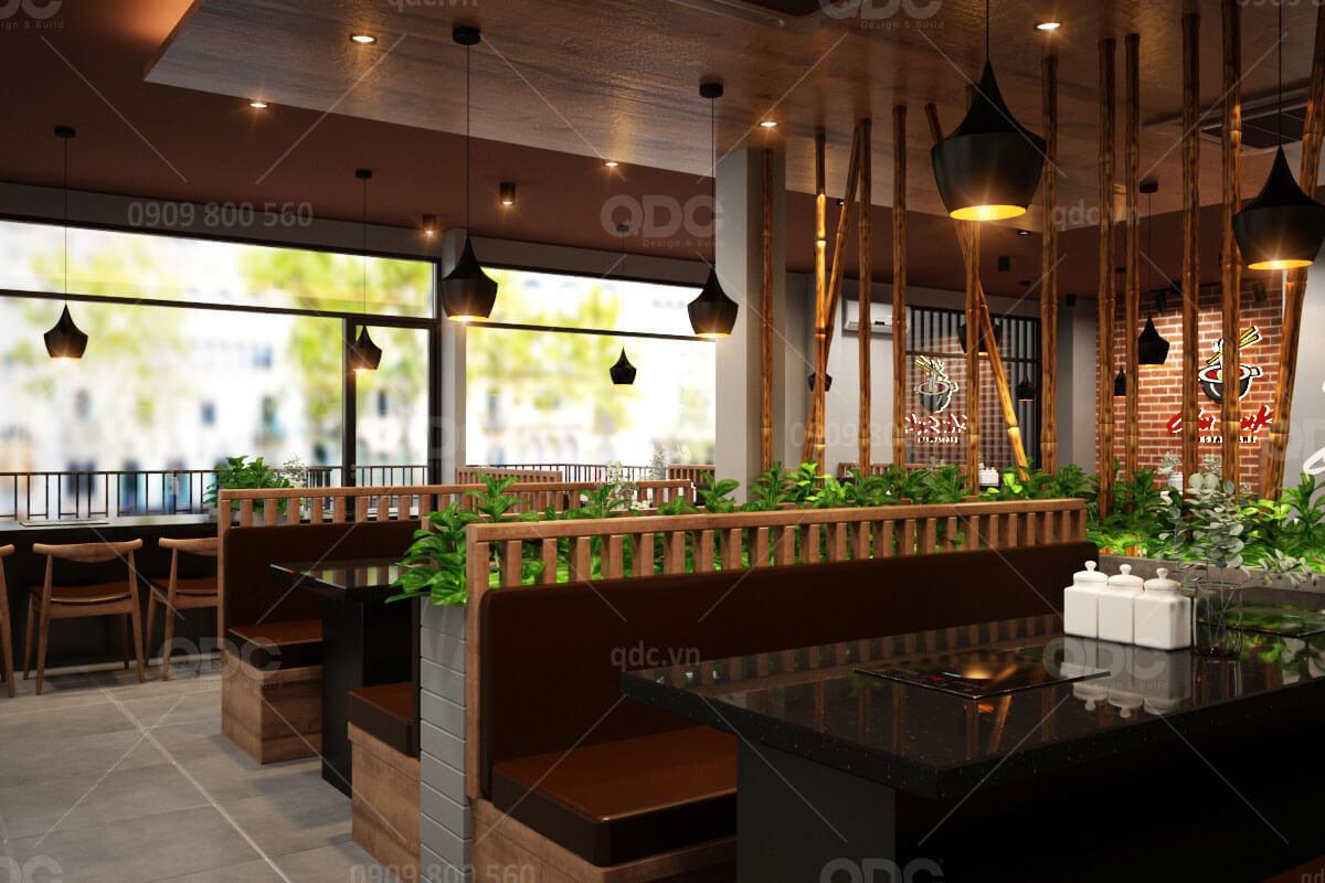 Thiết kế nhà hàng Nhật Chu Suki