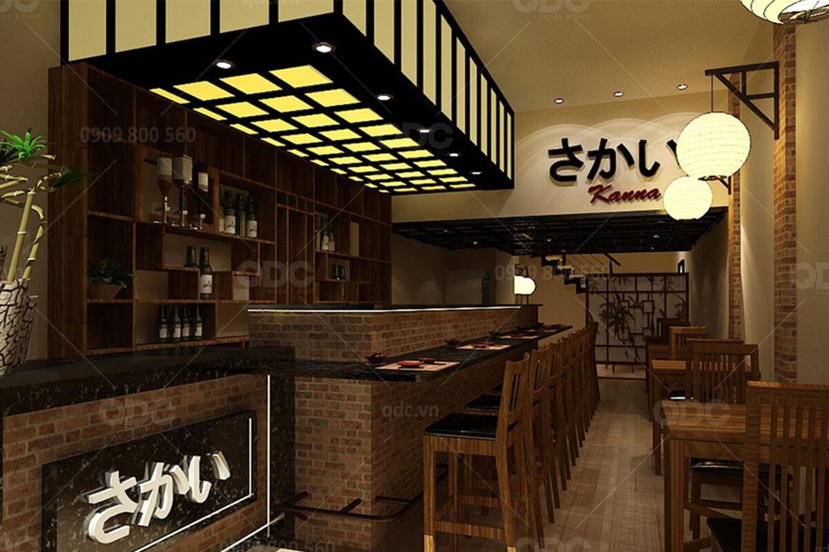 Thiết kế nhà hàng Nhật Kanna
