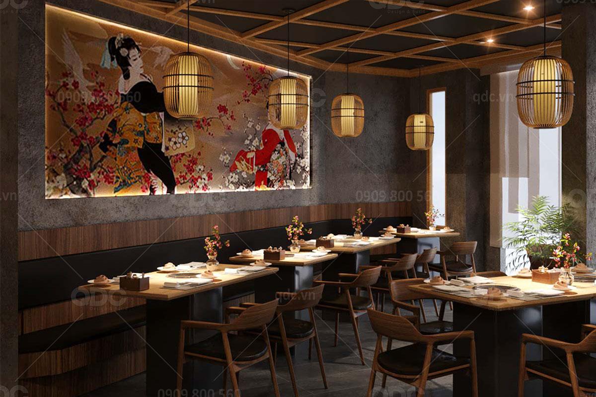 Kinh nghiệm thi công nhà hàng kiểu Nhật hiệu quả