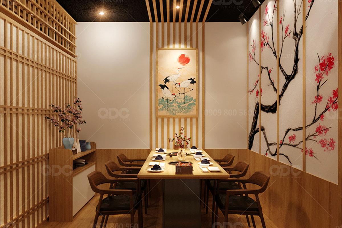 Phòng Vip lầu 3 nhà hàng Nhật Kobe Legend