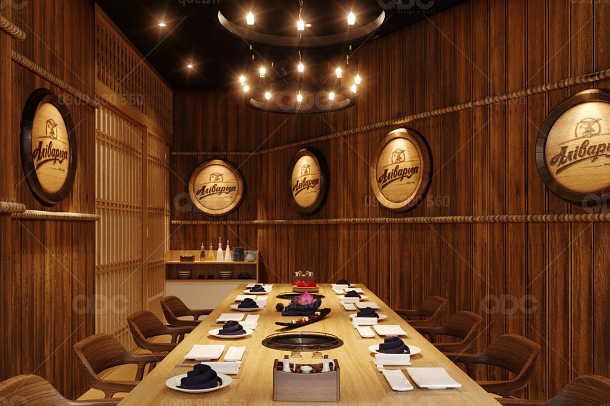 Không gian phòng Vip của một nhà hàng mang tên Kobe Legend