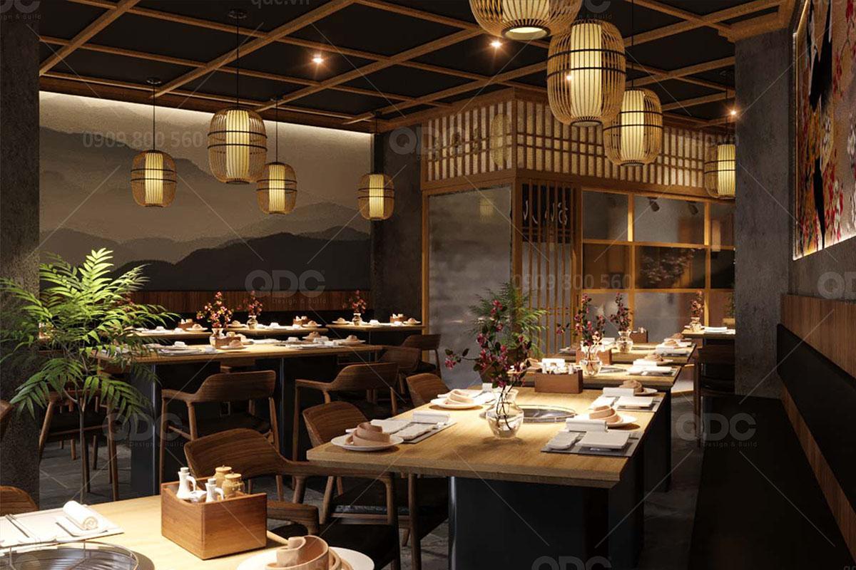 Thiết kế nhà hàng BBQ với chỗ ngồi thoải mái rất thích hợp cho gia đình