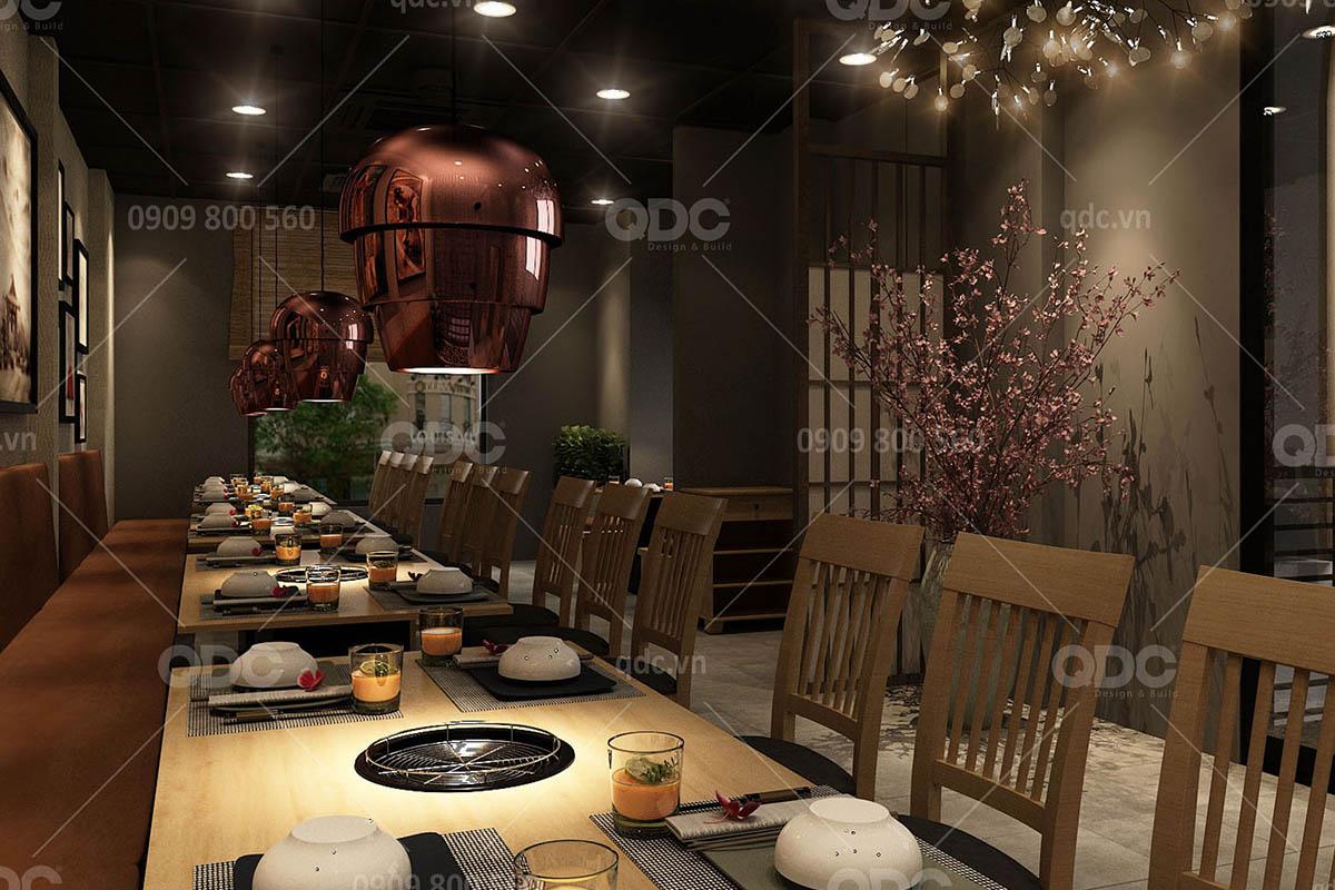 Thiết kế nhà hàng Nhật Marukin