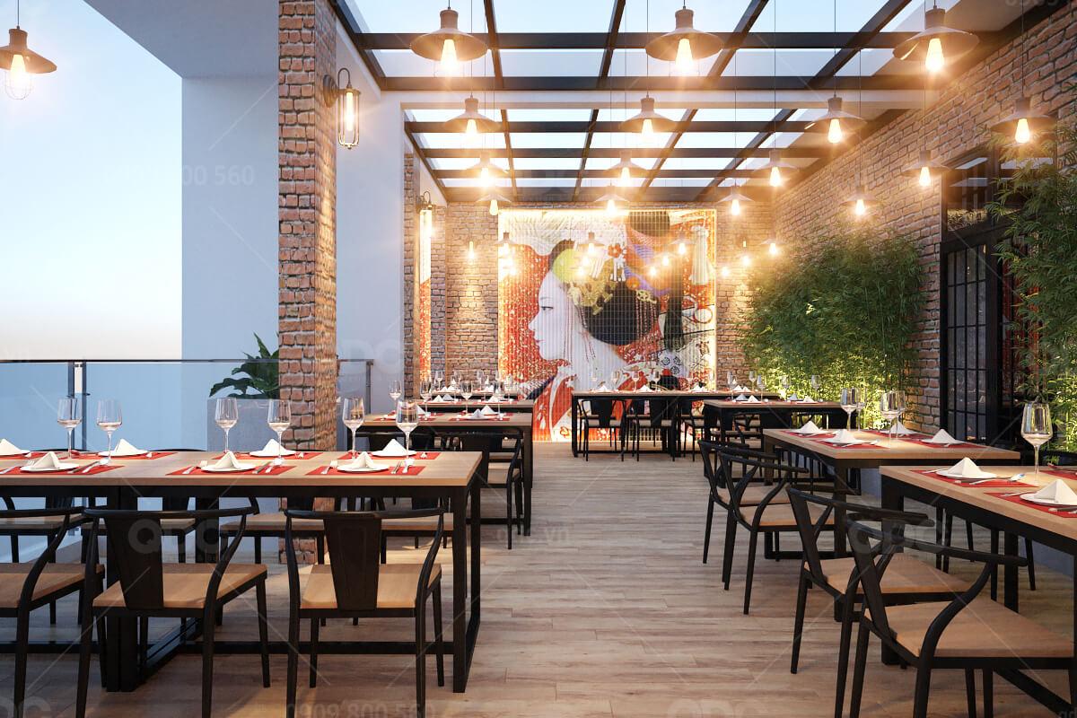 Thiết kế nhà hàng Nhật Wakemi