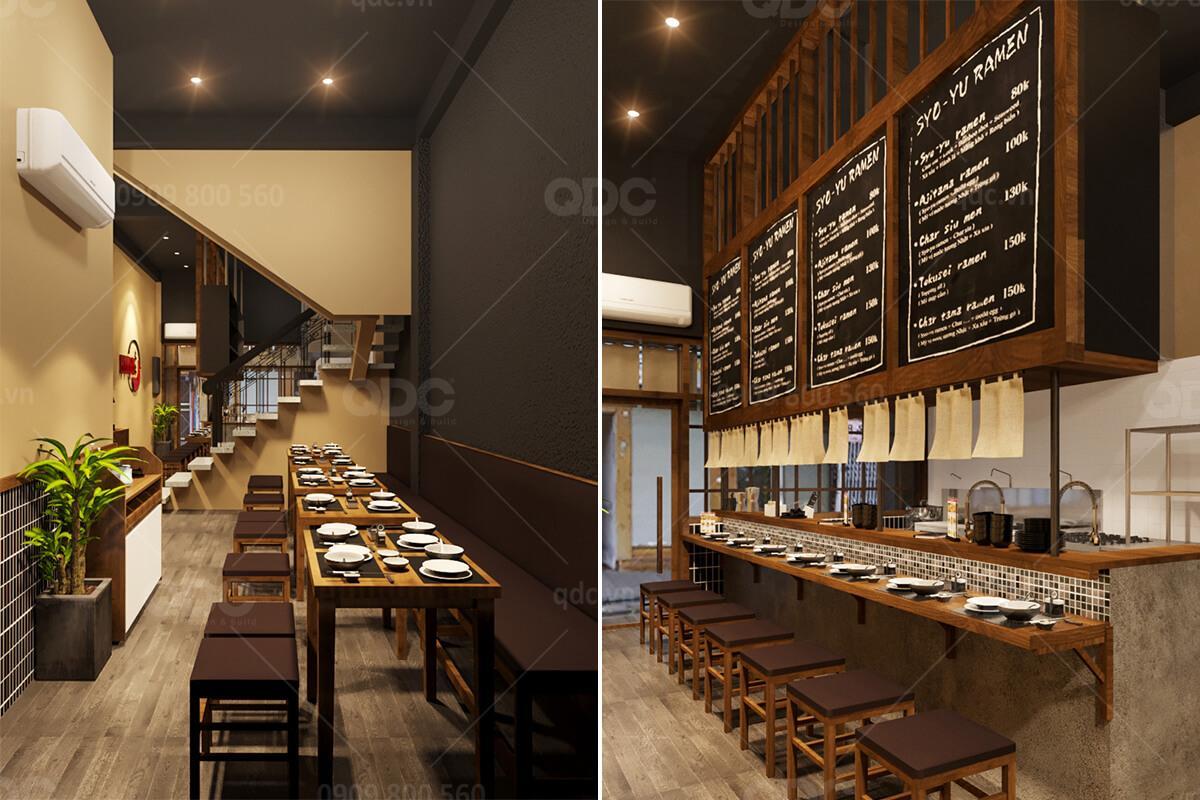 Thiết kế nhà hàng Nhật Ramen