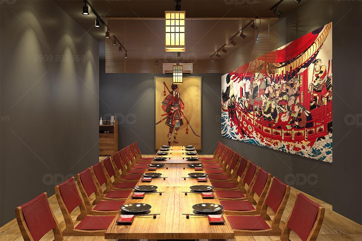 Thiết kế nhà hàng Nhật Bản SuShi MaSa 2