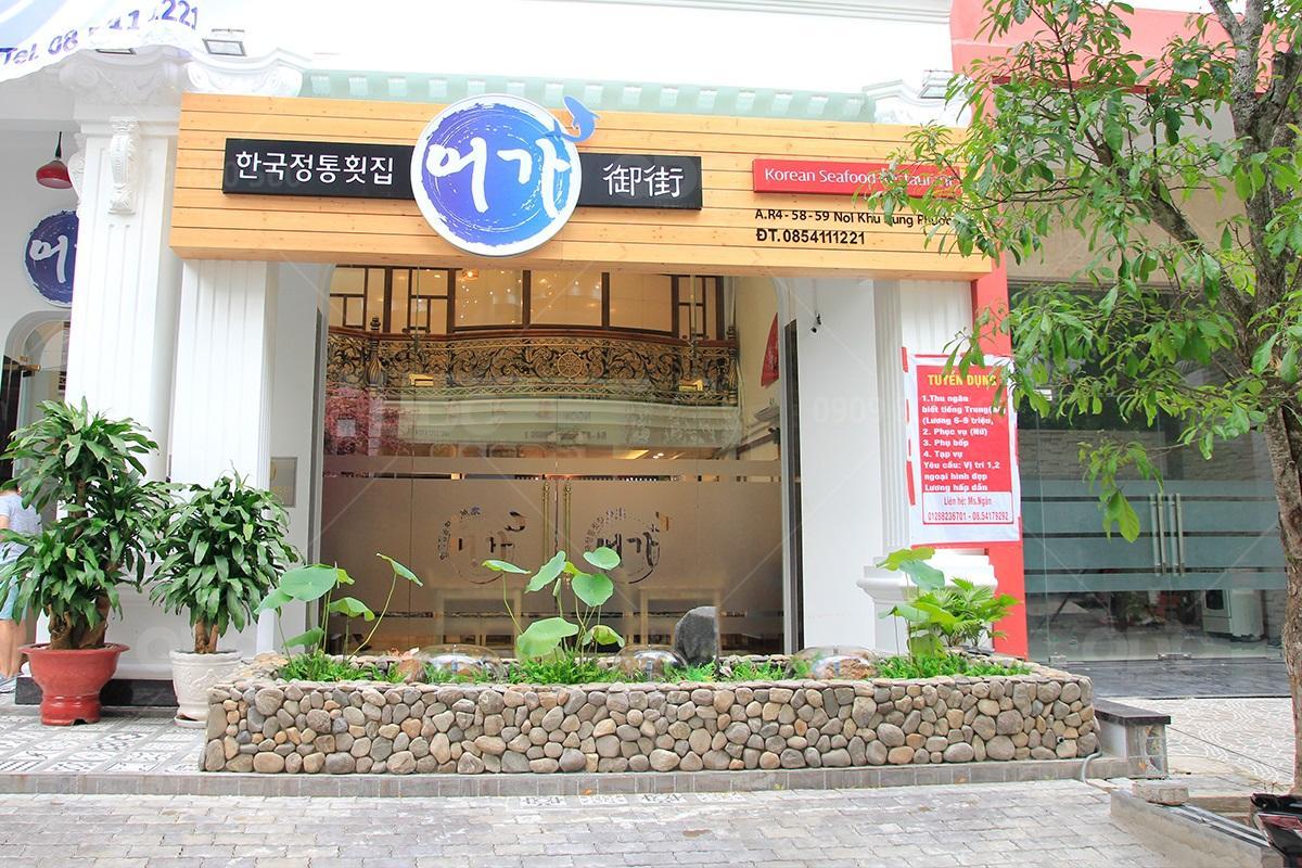 Thiết kế và thi công nhà hàng phong cách Nhật Bản Sushi Oh