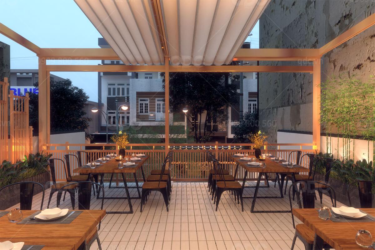 Không gian thoáng đãng của nhà hàng sẽ khiến thực khách ở lại lâu hơn