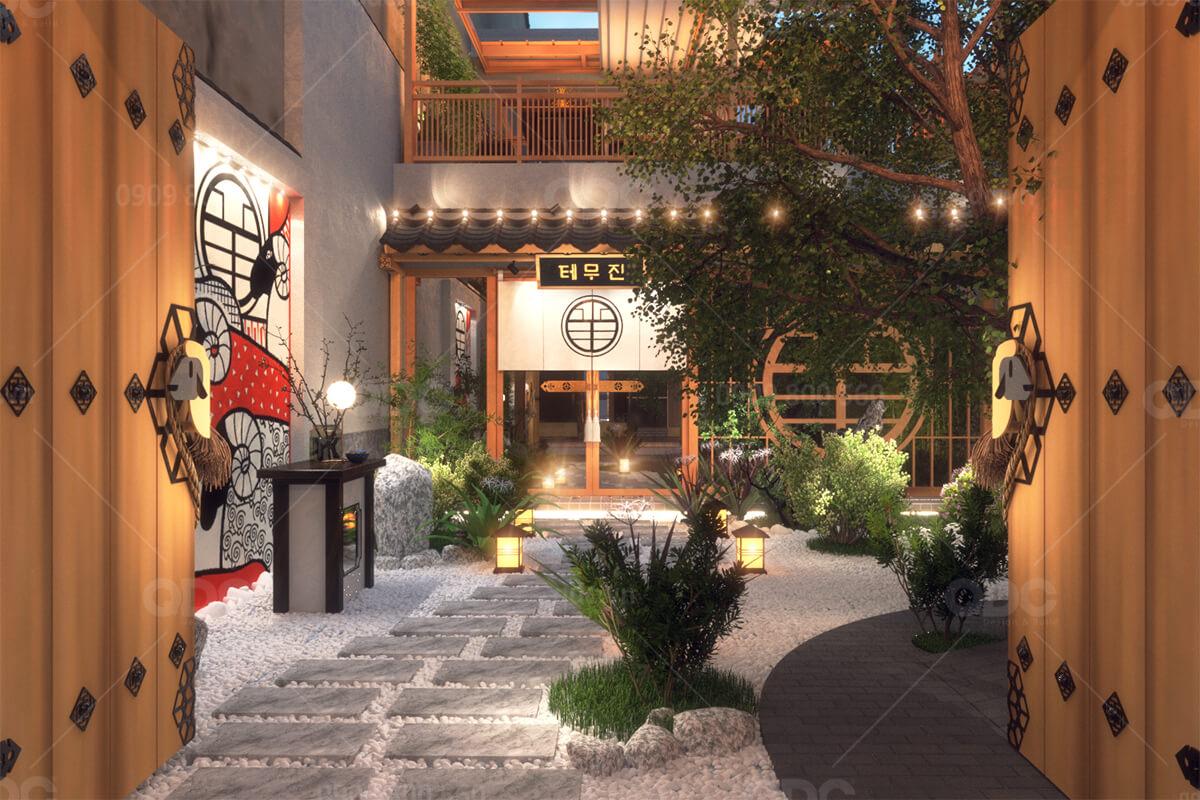 Thiết kế nhà hàng Nhật BBQ Temujin