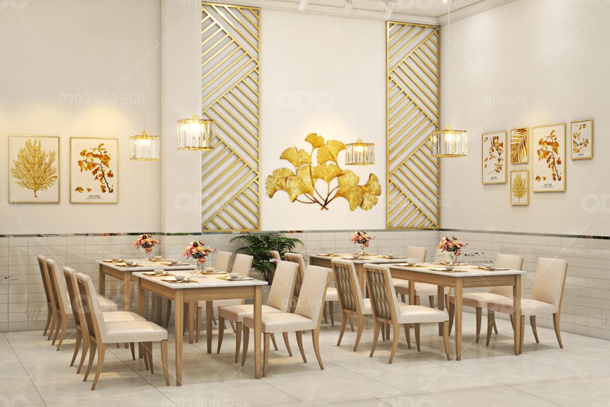 Thiết kế và thi công nhà hàng hải sản Gold Restaurant