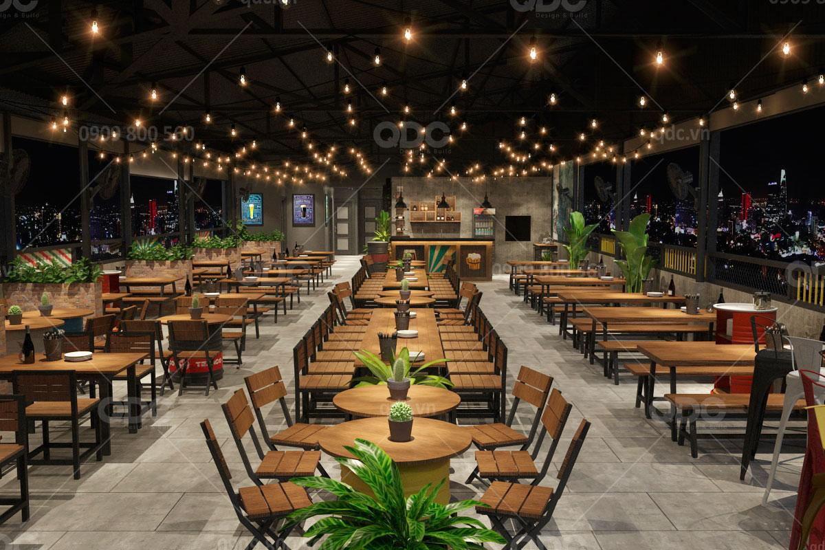 Với nhà hàng BBQ từ thép tiền chế, bạn có thể thay đổi thiết kế mà không cần lo ngại chi phí quá cao