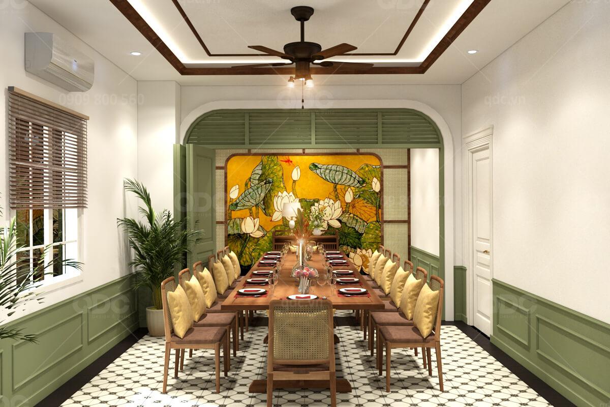 Thiết kế nhà hàng phong cách Indochine mang đậm bản sắc Việt