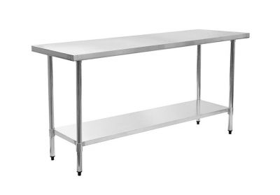 2-layer stainless steel food working table