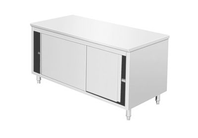 Stainless steel cupboard with sliding  door