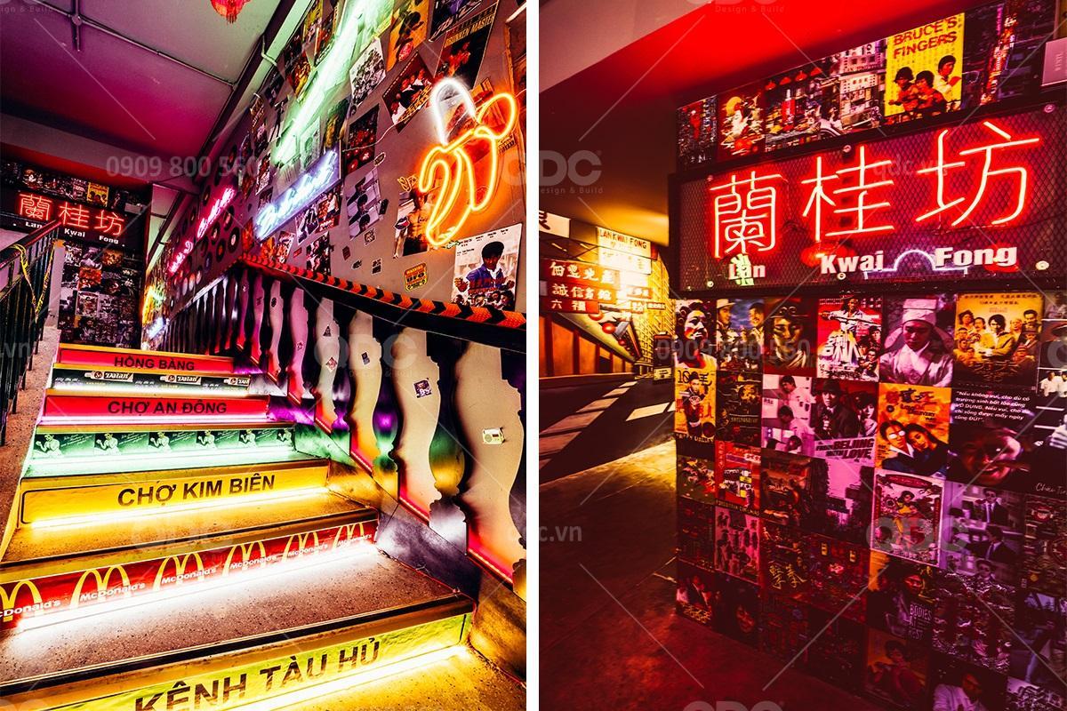 Tìm hiểu về ánh sáng neon trong thiết kế nhà hàng Hongkong