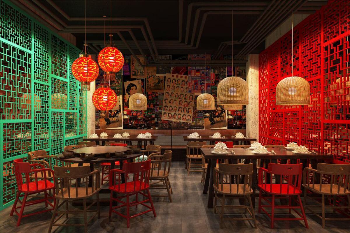 Những lưu ý thiết kế nhà hàng Trung Hoa độc đáo