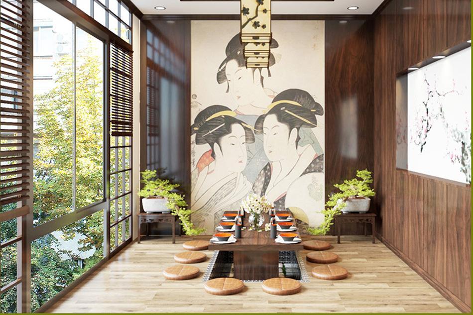 Những thiết kế nhà hàng phong cách Nhật thu hút khách hàng