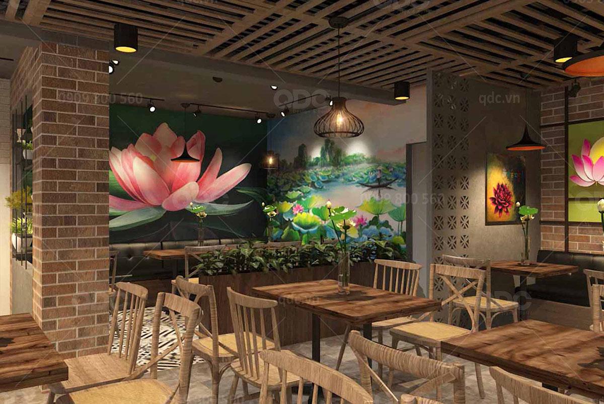 Kinh Nghiệm thiết kế nhà hàng phong cách đồng quê mộc mạc bình dị